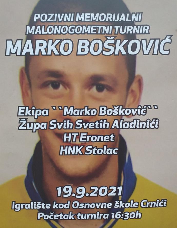 """Pozivni memorijalni malonogometni turnir """"Marko Bošković"""""""