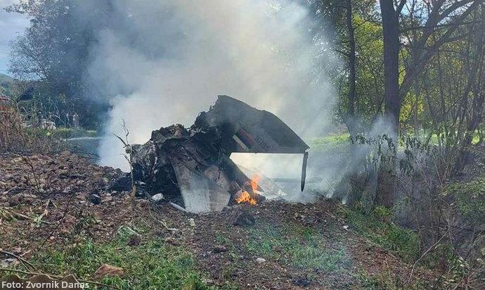 Srpski vojni avion srušio se kraj granice s BiH
