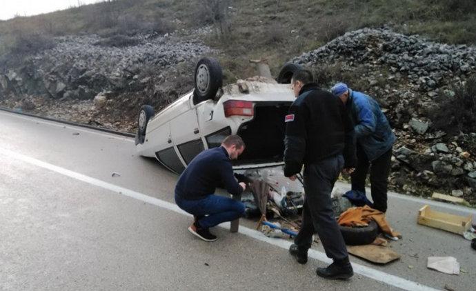 U prevrtanju automobila na Žegulji povrijeđena žena