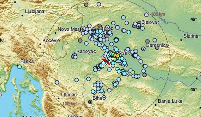 Tijekom noći Petrinju zatresao potres magnitude 3.4
