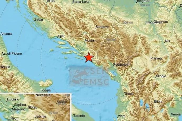 Snažan potres zatresao dubrovačko područje, osjetio se i u Hercegovini