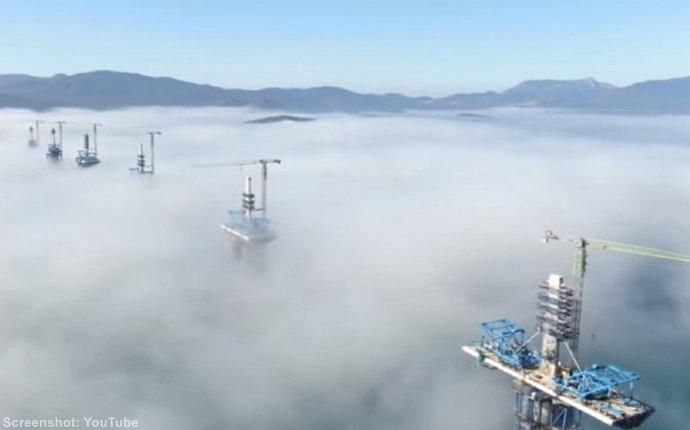Video: Ovako izgleda Pelješki most iz zraka