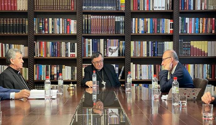 Susret vrhbosanskih nadbiskupa s hrvatskim ministrom Radmanom