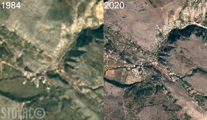 Pogledajte kako se Stolac mijenjao od 1984. do danas