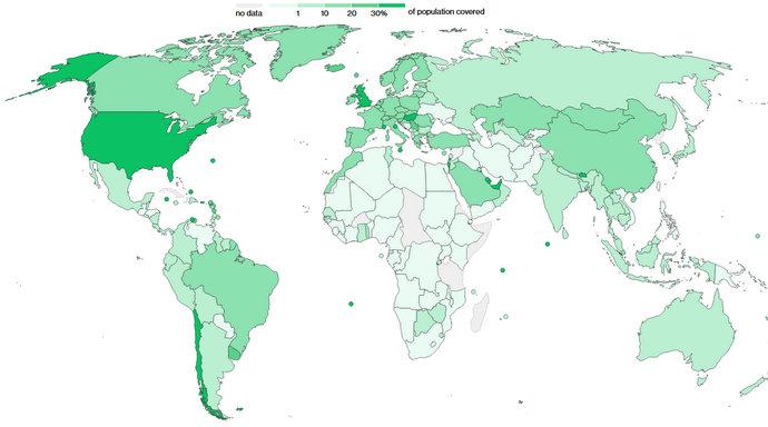 U svijetu podijeljeno 1,19 milijardi doza cjepiva u 175 zemalja