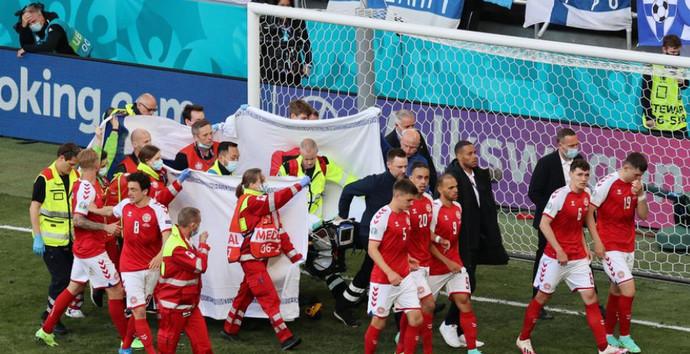 Nogometaši Danske i Finske u suzama mole za Eriksena, utakmica je prekinuta!