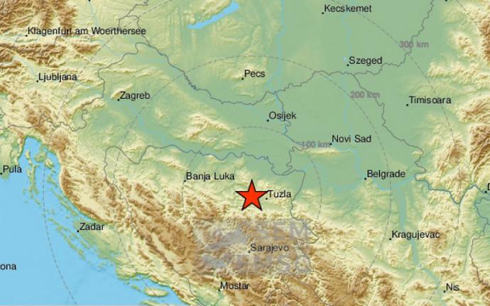 Potres 3,6 po Rihteru uzdrmao Tuzlu i okolicu