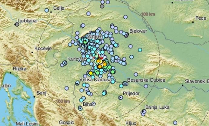 Potres jačine 3.7 oko ponoći pogodio Banovinu