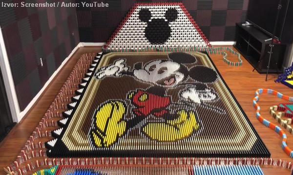 'Kralj domina' složio Mickeyja Mousea od 25.751 pločica