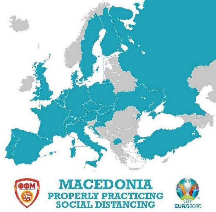 Makedonci 'bocnuli' susjede zbog nogometa: Držimo socijalnu distancu!