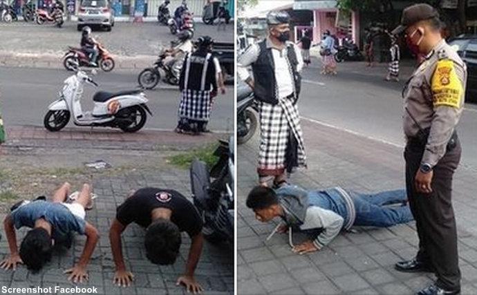 Vježbanjem protiv korone: Policija na Baliju one koji ne nose maske kažnjava sklekovima