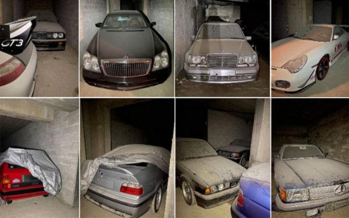 U bunkeru otkrivene desetine Mercedesa, BMW-a i Porschea