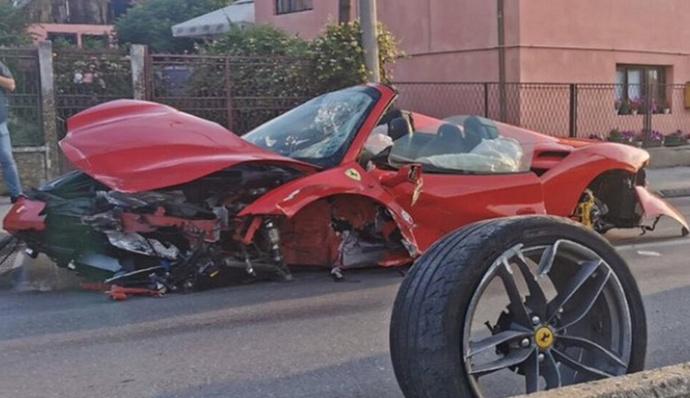 U Srbiji slupali Ferrari pa pobjegli, jurili jer su za hitnu mislili da je policija?