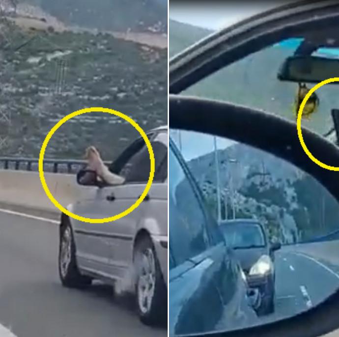 Muškarac na brzoj cesti vozio BMW prema Splitu i izbacio nogu kroz prozor!